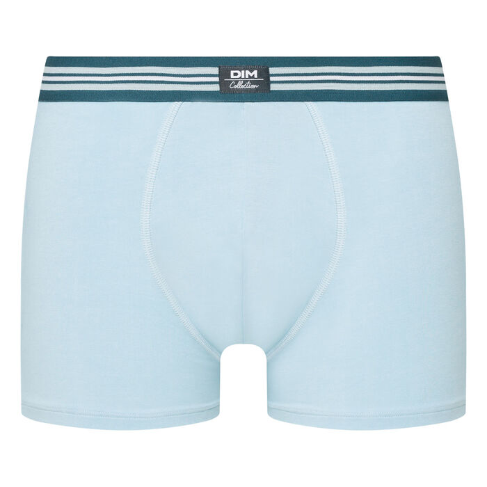 Men's stretch cotton trunks Light blue Smart Boxer, , DIM