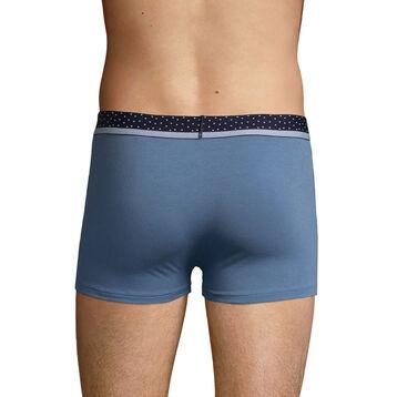 Bóxer para hombre azul y cintura de topos Dim Mix & Dots, , DIM