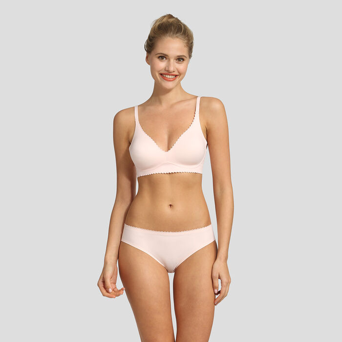Sujetador triangular sin aros rosa New Body Touch Libre de Dim, , DIM
