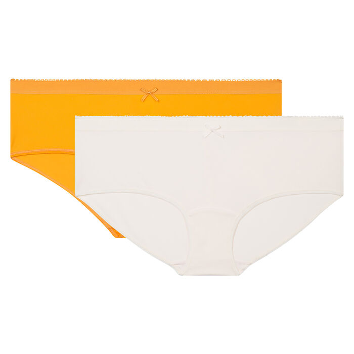 Pack de 2 culottes marfil y amarillo Les Pockets Microfibre de Dim, , DIM