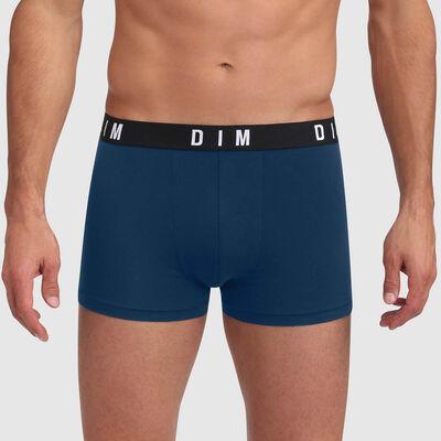 Bóxer verde azulado de algodón modal con cintura lisa Dim Originals, , DIM