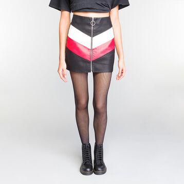 Panti de rejilla de rayas negro 73D - Dim Style, , DIM