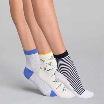 Pack de 3 pares de calcetines bajos de algodón Odyssée - Pocket Coton, , DIM