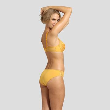 Braguita de microfibra amarilla con bordado Generous Mod de Dim, , DIM