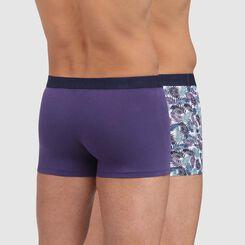 Pack de 2 boxers de algodón estampado de palmeras azul Mix and Fancy, , DIM