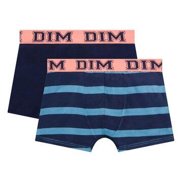 Pack de 2 bóxers de algodón azul niño - Rythmics, , DIM