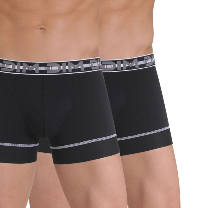 Lot de 2 boxers noirs 3D Stay & Fit-DIM