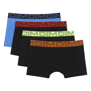 Pack de 4 boxers de niño de algodón elástico Malibu Mix & Color, , DIM