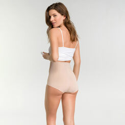 Faja reductora efecto vientre plano de talle alto color carne - Diams Control Plus, , DIM