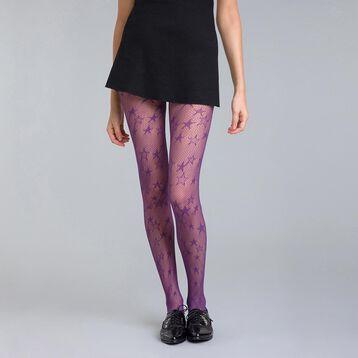Collant résille étoile violet nocturne 73D Style-DIM