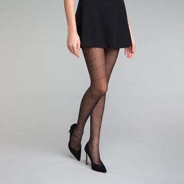 Panti plumetis negro entrelazado 20D - Dim Style, , DIM