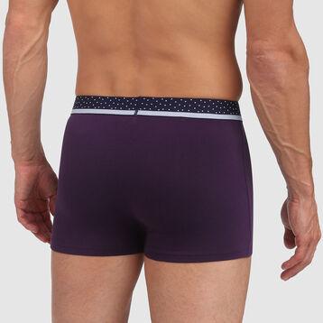 Bóxer hombre violeta y cintura de topos Dim Mix & Dots , , DIM