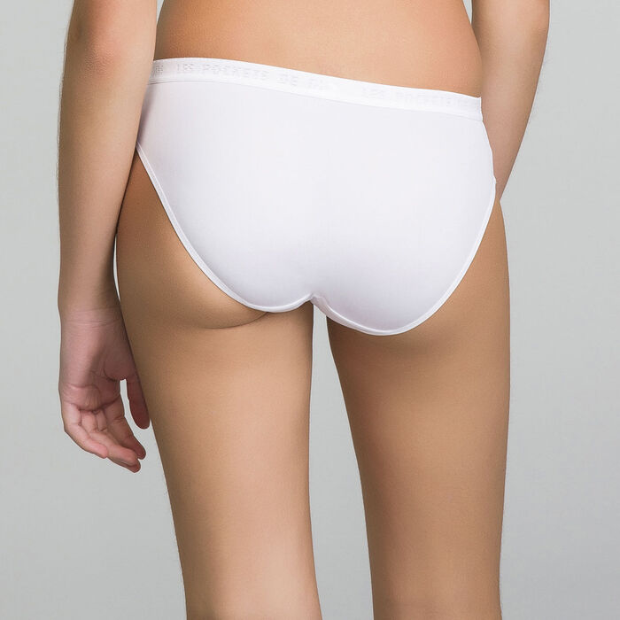 Pack de 2 braguitas blancas niña - Pocket Micro, , DIM