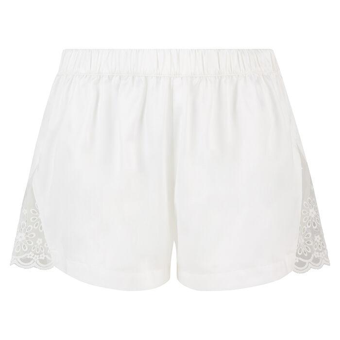 Pantalón corto en satén y bordado inglés Graphic Wedding de Dim, , DIM