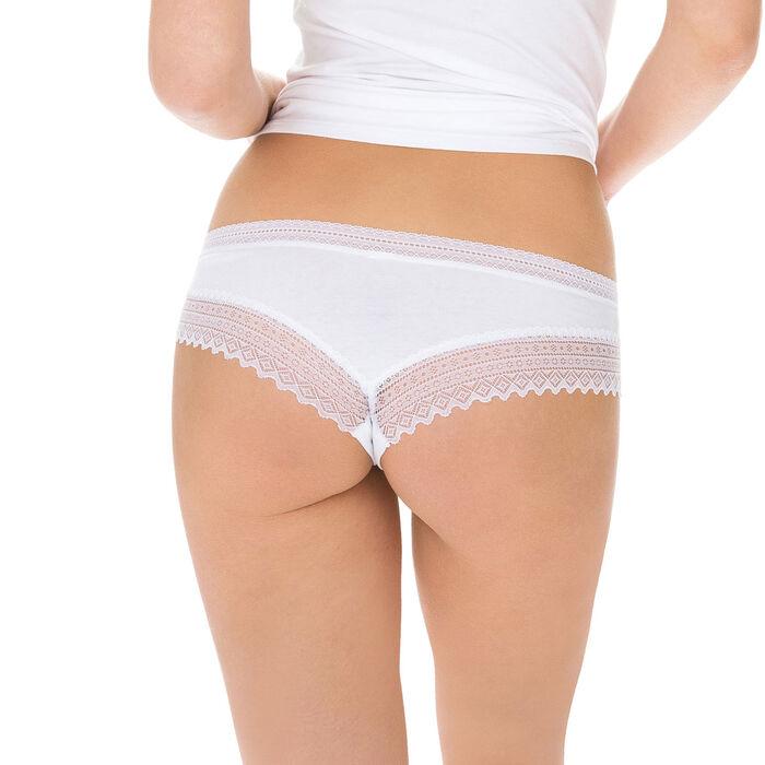 Lote de 2 culotes blanco y negro Sexy Fashion de algodón y encaje, , DIM