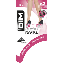 Socquettes beige natuel Sublim Absolu® Resist 15D-DIM