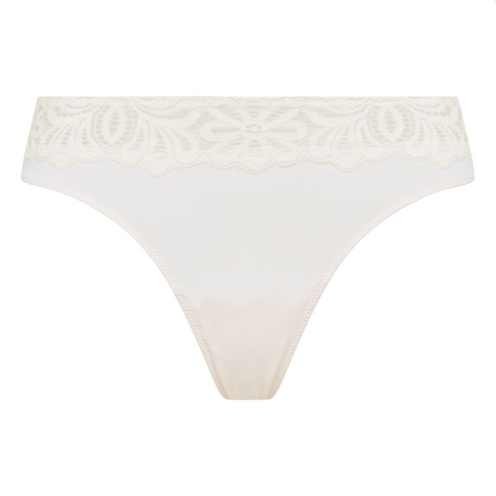 Lace white thong Daily Glam, , DIM