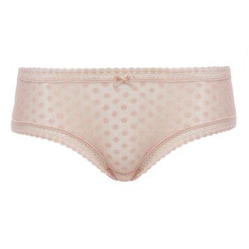 Culotte skin rose para mujer de tul de lunares Dotty Mesh Bar à Culottes, , DIM