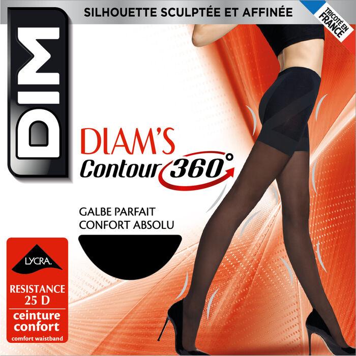 Panti negro Diam's Contour 360° semiopaco 25D, , DIM