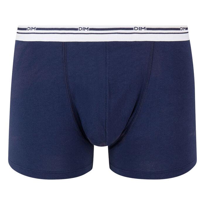 Bóxer azul marino de algodón elástico con cintura blanca Classic Colors, , DIM