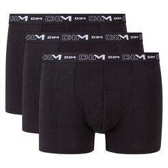 Pack de 3 bóxers negros para hombre de algodón elástico, , DIM