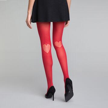 Panti rojo con motivo de corazón 20D - Dim  Style, , DIM