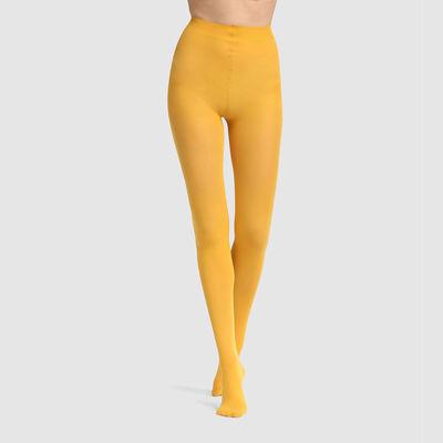 Panti opaco aterciopelado amarillo oro 50D para mujer Les Opaques, , DIM