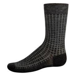 Calcetines de lana de caña media para hombre gris oscuro y verde, , DIM