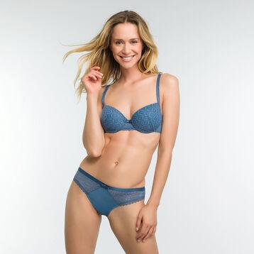 Braguita brasileña de encaje azul - Dim Daily Glam Trendy Sexy, , DIM