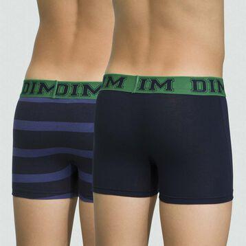 Pack de 2 boxers para niño azul marino de algodón elástico Rythmics, , DIM