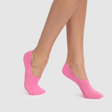 Pack de 2 pares de pinkies rosas especial sneakers Invisifit 107D, , DIM
