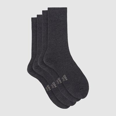 Pack de 2 pares de calcetines en viscosa gris jaspeado Dim Bambou, , DIM
