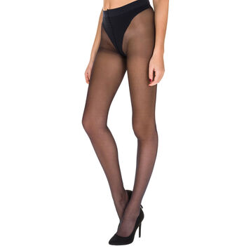 Collant noir transparent Diam's Sexy Shaping push-up 22D-DIM