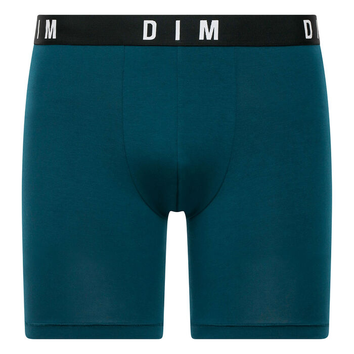 Bóxer largo verde azulado de algodón y modal - DIM Originals, , DIM