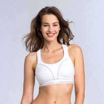Soutien-gorge sport Ultimate Run Bra blanc Shock Absorber-SHOCK ABSORBER
