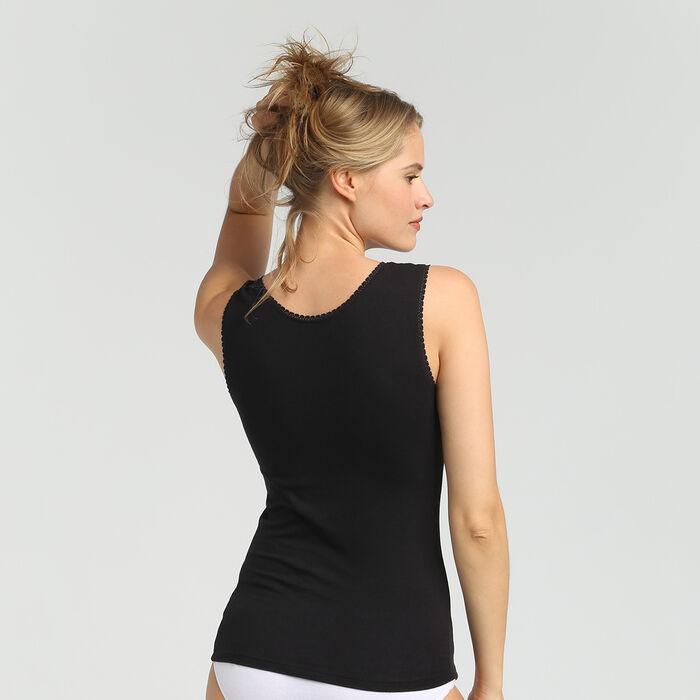 Camiseta de tirantes para mujer supercómoda negra Thermal de Dim, , DIM