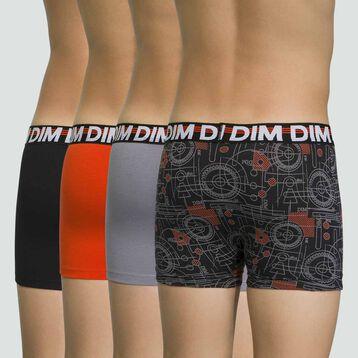 Pack de 4 boxers para niño de algodón elástico Promo Eco, , DIM