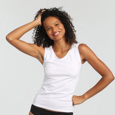 Camiseta de tirantes para mujer supercómoda blanca Thermal de Dim, , DIM