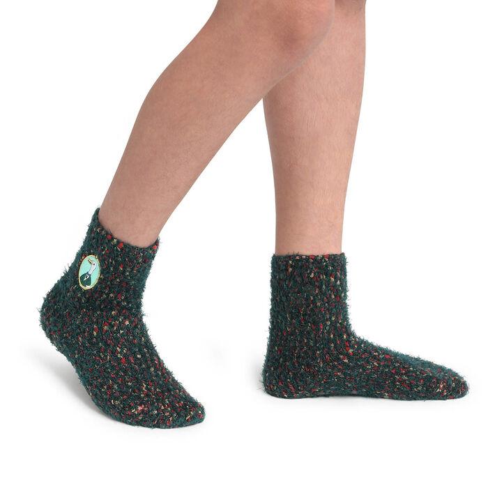 Calcetines para niños antideslizantes estampado oca verde Kids Cocoon, , DIM