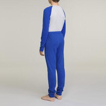 Pijama 2 piezas largo 100% algodón gris niño, , DIM
