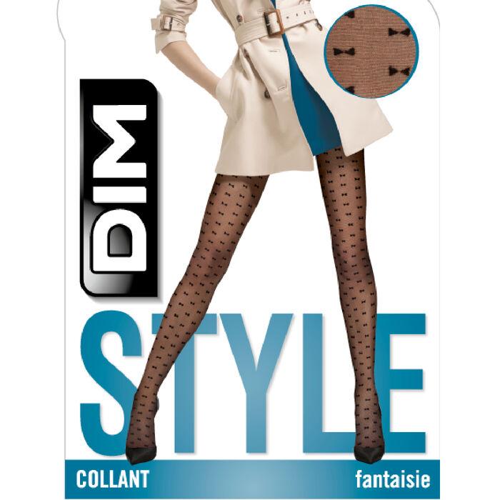 Panty negro fantasía con estampado delazos Style de Dim 20D, , DIM