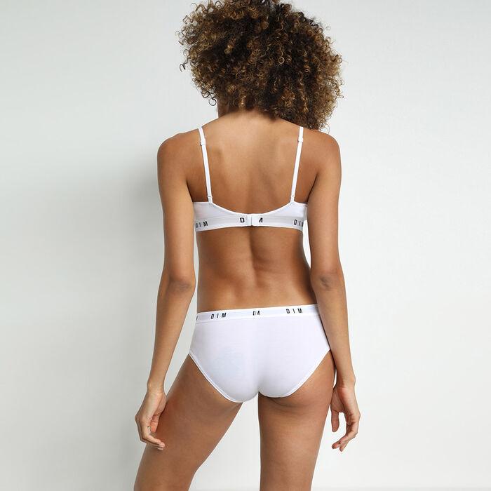 Dim Originals white non-wired bra in modal and cotton, , DIM