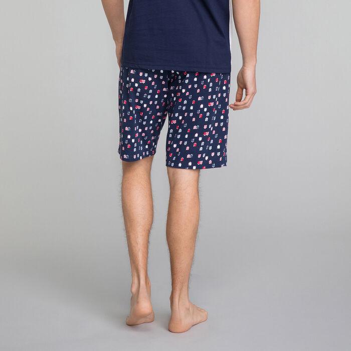 Pantalón corto de pijama azul marino estampado Hombre - Fashion , , DIM