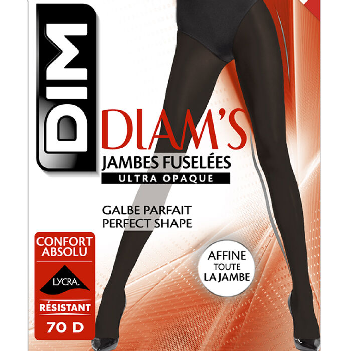 Panti negro Diam's Jambes Fuselées ultraopaco 70D, , DIM