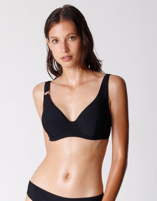 Sujetador de traje de baño con aros para mujer en microfibra reciclada, , DIM