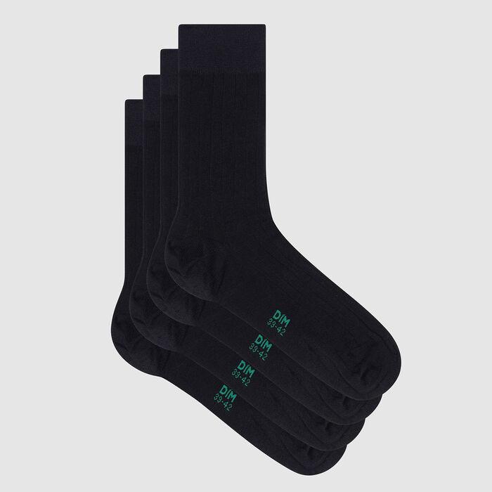 Pack de 2 pares de calcetines para hombre lyocell azul marino Green by Dim, , DIM