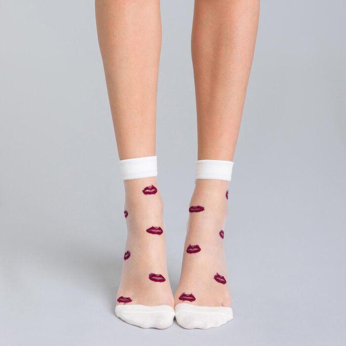 Socquettes Coton Style imprimé lèvres-DIM
