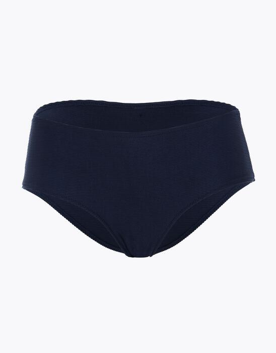 Braga de traje de baño azul de media altura para mujer, , DIM