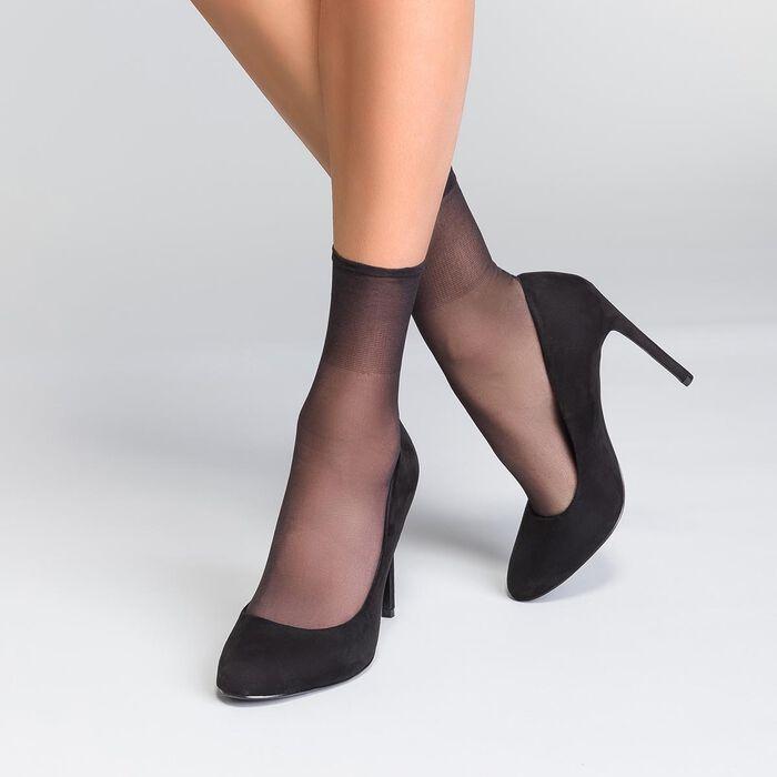 Lote de 2 calcetines de media negros Beauty Resist 20D, , DIM