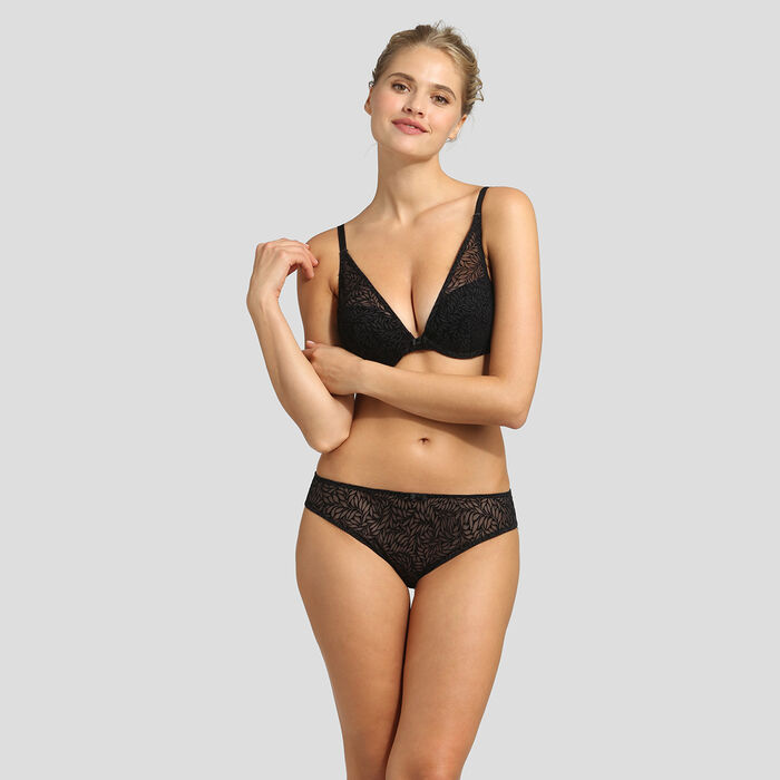 Sujetador triangular push-up negro Sublim Velours de Dim, , DIM